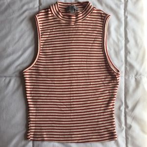 Charlotte Russe Ribbed Crop Tank